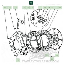 Disk press clutches with a housing assy,new old stock (21А-1601090-А)